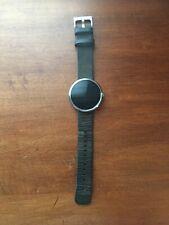 Motorola Moto 360 1st Gen 46mm Gps Black Leather Band (read Description)