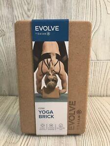 Evolve by Gaiam 100% Cork Yoga Brick Block ECO-Friendly Home Fitness Stretching