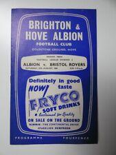 More details for brighton v bristol rovers | 1960/1961 | div. 2 | 27 aug 1960 | uk freepost