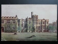 Warwick Castle Chapel PEACOCKS c1925 Art by W W Quartremain Pub By J Salmon 1047