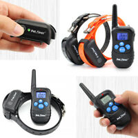 1/2 Dog Training Collars Electric Rechargeable Waterproof Remote Control