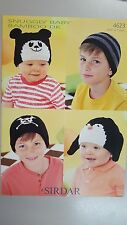 Sirdar Knitting Pattern #4623 Baby & Child's Hats in Snuggly Baby Bamboo DK