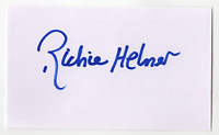 Richie Hebner signed autographed index card! RARE! Guaranteed Authentic!