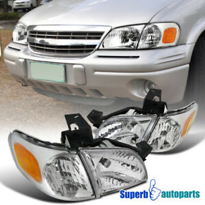 For 1997-2005 97-05 Chevy Venture Head Lights Signal Corner Lamps