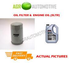 PETROL OIL FILTER + SS 10W40 OIL FOR LAND ROVER FREELANDER 1.8 120BHP 1998-06