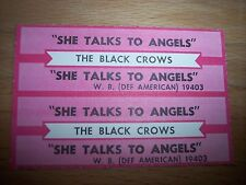 """2 Black Crows She Talks To Angels Jukebox Title Strip CD 7"""" 45RPM Records"""