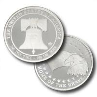 10 - 1 oz .999 Silver Rounds - Liberty Bell & Bald Eagle - Land of the Free - BU