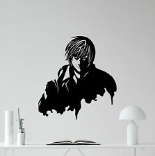 Light Yagami Wall Decal Death Note Anime Vinyl Sticker Bedroom Decor Art 129hor