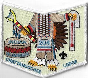 OA Chattahoochee Lodge 204 Indian Summer WHT Bdr. GA [MX-8116]