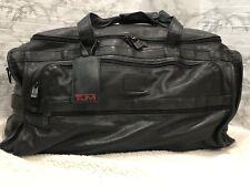 Ultra Rare Tumi Alpha Black Nappa Leather XXL Carry Duffle Bag