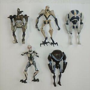STAR WARS action figure toy LFL lot of 5 robots assorted general grievous