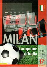 FOLDER 2004 MILAN CAMPIONE D'ITALIA 2003/2004