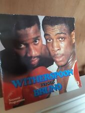 Frank Bruno Vs Tim Witherspoon Souvenir boxing programme Saturday 19th July 1986