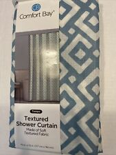 Comfort Bay Textured Fabric Print Shower Curtain 70x72 Washable Floral New C32