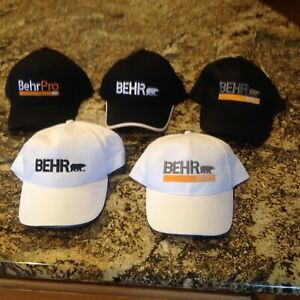 Promotional Painters Hats - BEHR  - Black or White - 5 styles