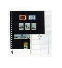 10 Lindner 04P Omnia Fiches de Stock Noir 2x 4 Rayures Poches 245x67 MM
