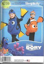 8239 Kids 1/2-4 sewing pattern book-week costume nemo dory Simplicity UNCUT fish