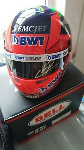 2020 Perez Signed Half Scale Helmet Winning Race Helmet