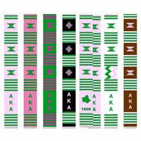 Alpha Kappa Alpha Kente Stole Graduation Stole - Kente Cloth - Grad Cloth - New