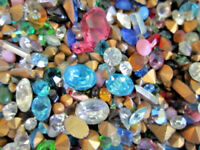 ☆~300 Pc.LOT! GLASS GEMSTONES For CRAFTING/HIGH Quality-U.S SELLER