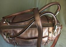 Rebecca Minkoff Rose Gold Metallic Cupid Satchel Leather Bag With shoulder strap