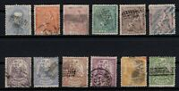 P135045/ SPAIN STAMPS – YEARS 1872 - 1874 USED CLASSIC LOT – CV 174 $