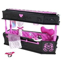 BNIB MONSTER HIGH DRACULAURA JEWELRY BOX COFFIN BED DEAD TIRED RARE NEW IN BOX