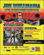 Joe Bonamassa 2013 Live At The Greek Theatre ad 8 x 11 advertisement print