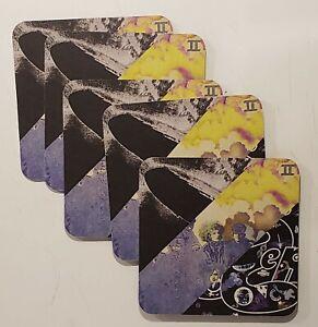 LED ZEPPELIN 2014 Promo Coaster LOT OF 5 Atlantic Records