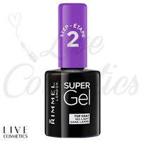 Rimmel London Super Gel Top Coat Nail Polish, Step 2 - Transparent, 12 ml