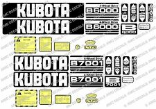KUBOTA B6000 B6001 B6100 B7000 B7001 B7100 COMPACT TRACTOR DECAL STICKER SET