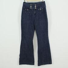 behold Sailor Style Lace Back Blue Denim Jeans Juniors Size 9 ins 32