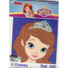 Kit Canevas Princesse Sofia 12 x 12 cm Disney REF bl0600.0585