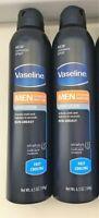 2 Vaseline MEN 24 Hour Moisture Spray Lotion Fast Cooling 6.5 Oz  NEW AUTHENTIC