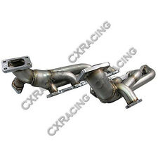 CXRacing Twin Turbo Header T3 38mm WG For 79-93 Ford Fox Body Mustang 5.0L