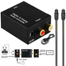 Audio Konverter Adapter Koaxial Toslink Optisch Digital zu auf Analog Cinch R/L