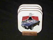 New 1968 Pontiac Firebird Convertible Hard Coaster set! FREE SHIPPING!