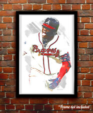 RONALD ACUNA JR. watercolor painting art print/poster ATLANTA BRAVES FREE S&H!