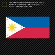 """4"""" Filipino Flag Sticker Die Cut Decal philippines pinoy star sun"""