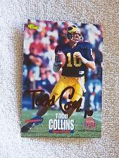 Buffalo Bills Todd Collins Signed 1995 Classic Draft Card Auto