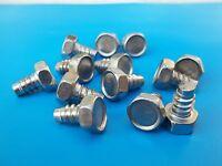 20* Edelstahl V4A Sechskant Blechschrauben 6,3 x 9,5 DIN 7976 mit Zapfen