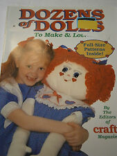 Dozens of Dolls To Make and Love Pattern Book Topsy Turvy Sock Bear Bride Barbie