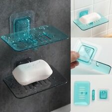 Creative Bathroom Wall-mounted Crystal Soap Double Dish Drain Soap Box