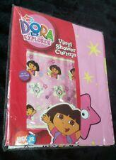 Dora the Explorer & Boots Pink Vinyl Bathroom Shower Curtain Stars 70x72 Nick Jr