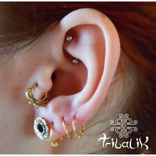 Brass Gold Colour  Tragus Ring, Tragus Conch Jewelry Helix Ring (code 32)
