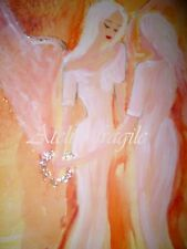 Atelier FRAGILE Engel die Verbindung zu deinem Engel - Leinwanddruck 70 x 50 cm