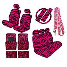 New Hot Pink Zebra Print Seat Covers Steering Wheel Cover Floor Mats Full Set