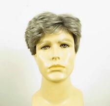 Perruque homme 100% cheveux naturel gris poivre et sel DAVID 44