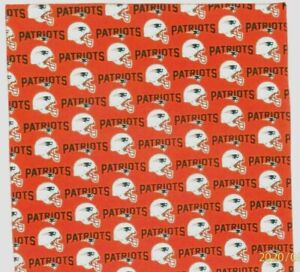 """Bandanna for New England Patriots on Red 100% Cotton #146 Handmade 22""""X22"""""""