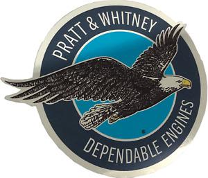 Pratt & Whitney logo chrome sticker